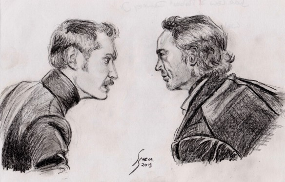 Jude Law und Robert Downey Jr. als Dr. Watson und Sherlock Holmes